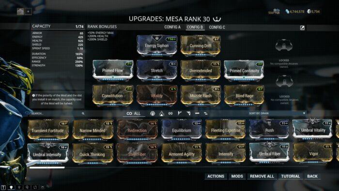 mesa secondary mods