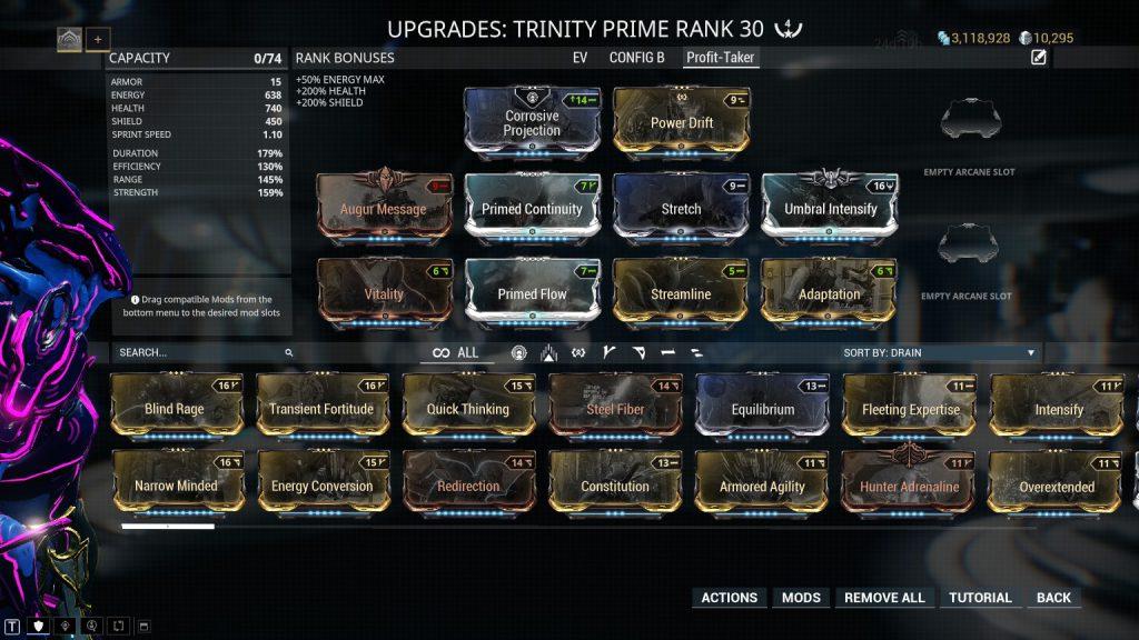 Trinity Builds Guide   Warframe-School com