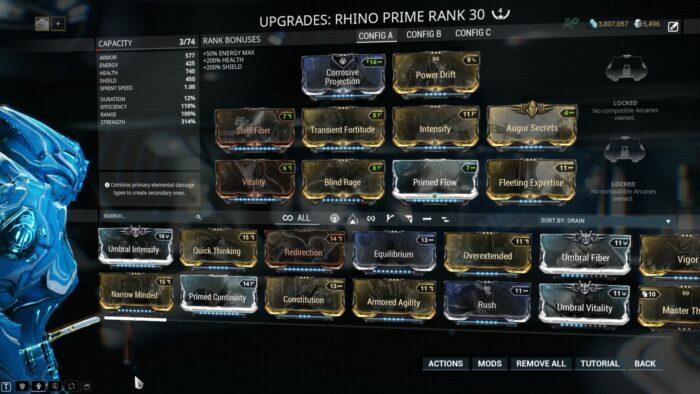 Rhino Builds Guide Warframe School Com