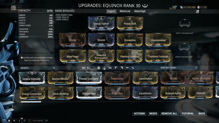 Equinox Builds Guide | Warframe-School com