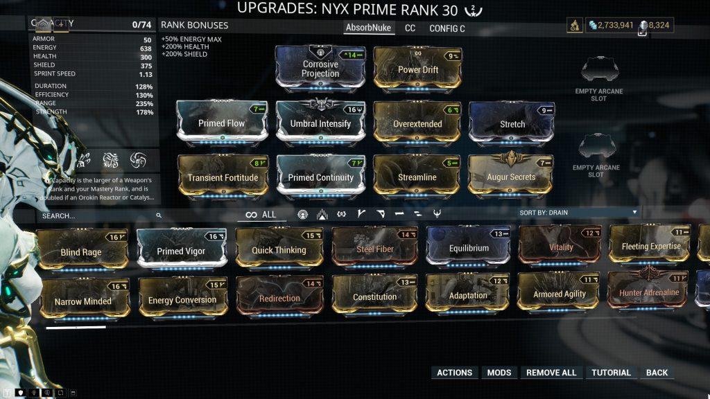 Nyx Prime Absorb Nuke Build