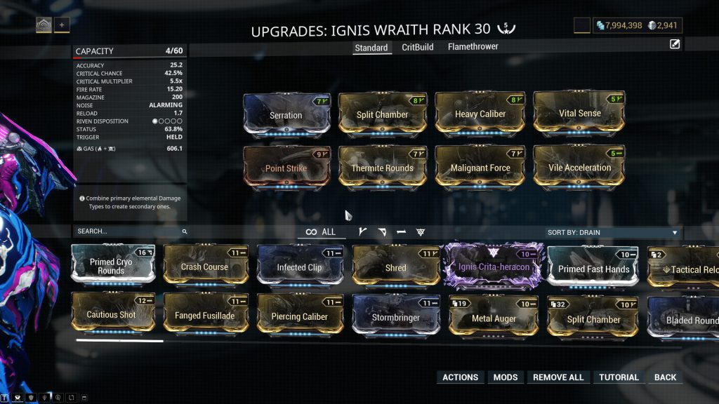 Ignis Wraith Standard Build