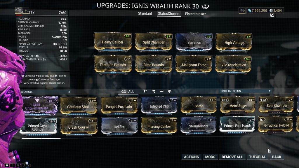 Ignis Wraith - The Status Chance Build