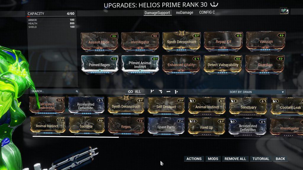 Damage Support Helios Prime Build