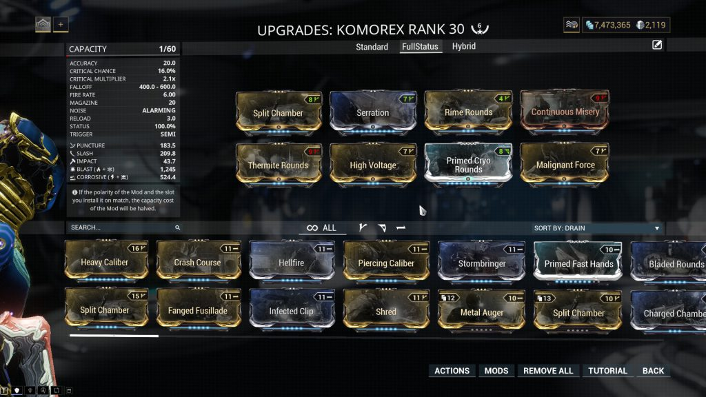 The 100% Status Chance Build