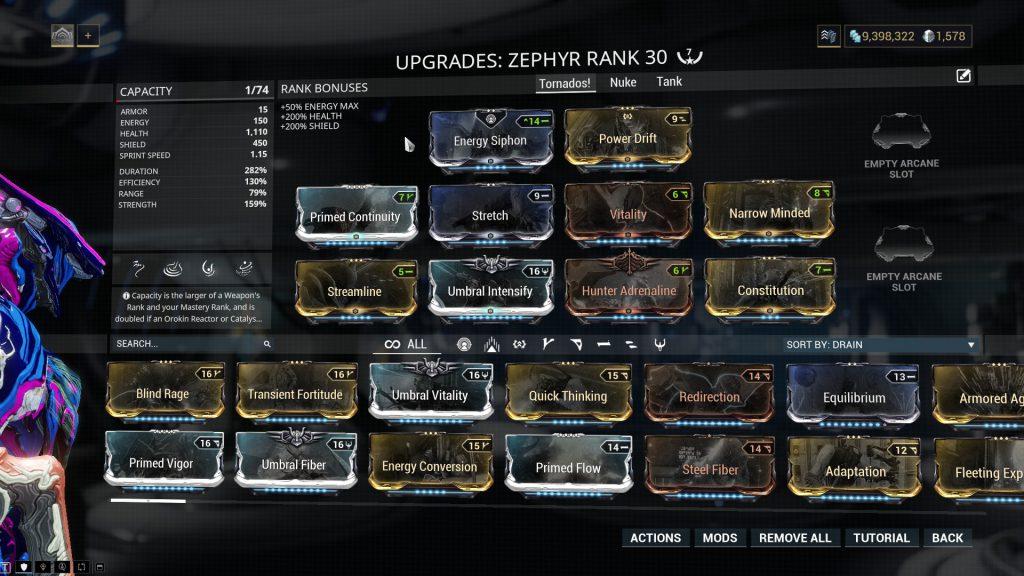 Zephyr Prime Tornado Build