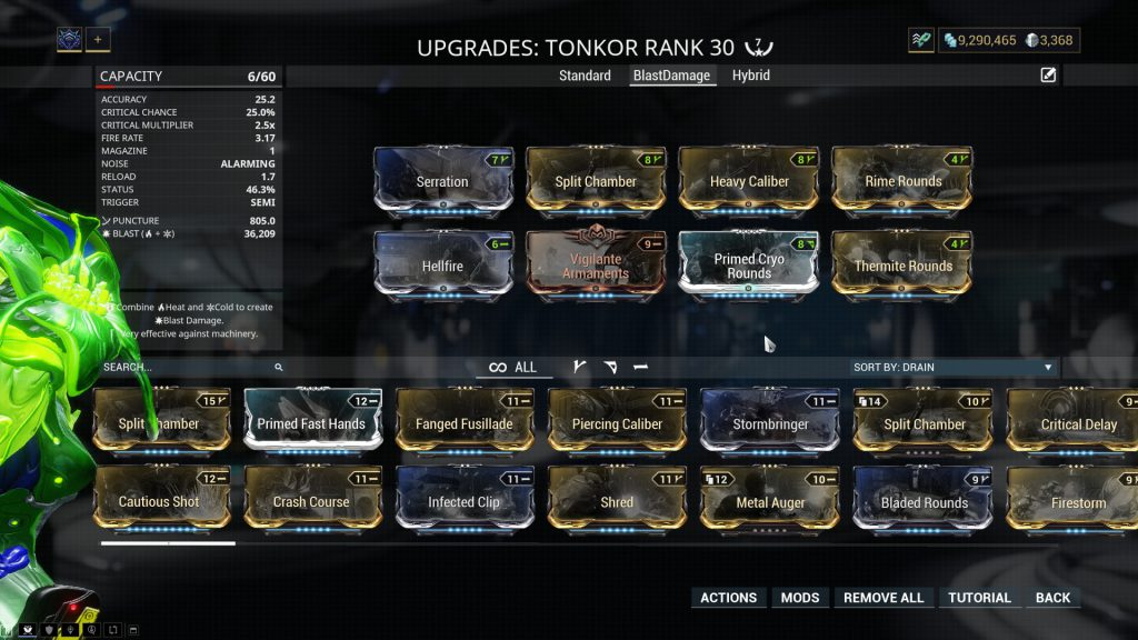 Blast Damage Tonkor Build