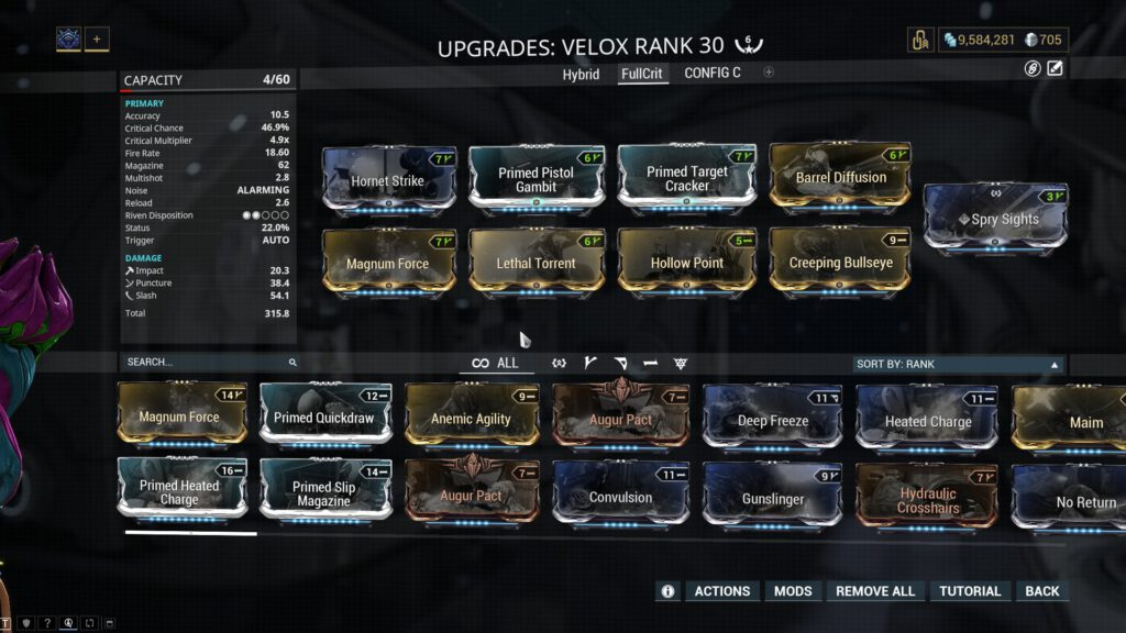 Full Crit Velox Build