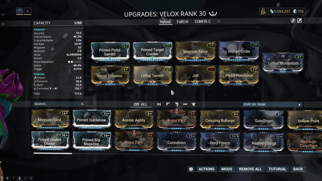 Velox Hybrid Damage Build