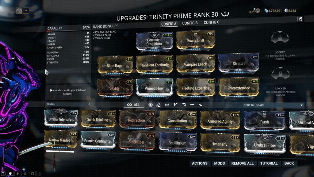 Main Trinity Prime Build: Energy Vampire Trinity