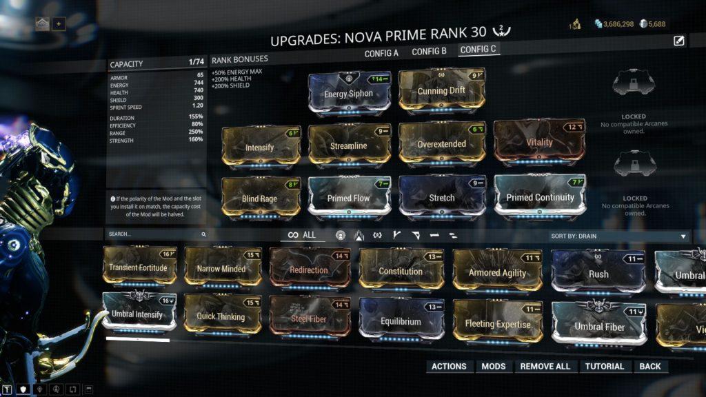 Nova Prime - The Worm Hole Build