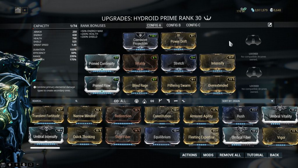Pilfering Hydroid Prime Build