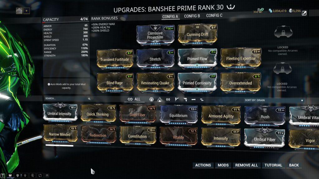 Banshee Prime Resonating Quake Build