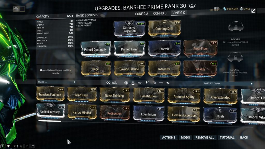 Savage Silence Banshee Prime Build