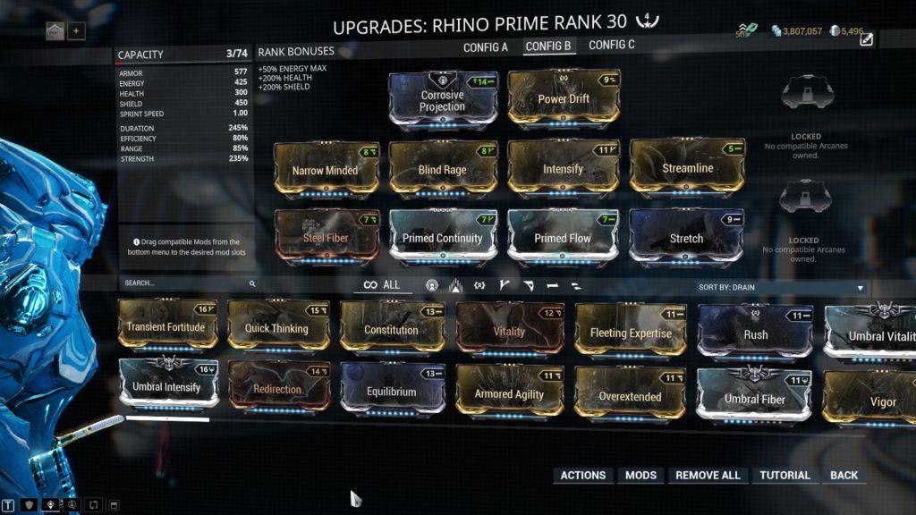 Buffer Rhino Prime Build