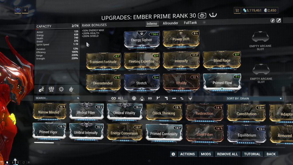 Ember Prime Inferno Build