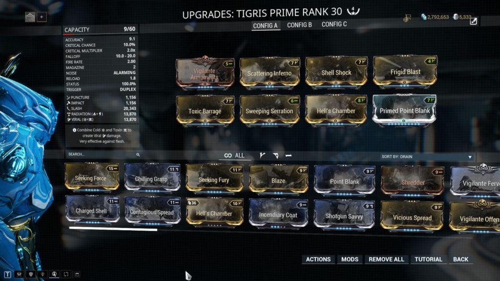 100% Status Chance Tigris Prime Build