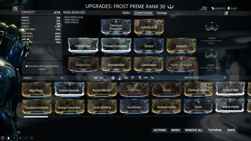 Frost Prime Crowd Control Build