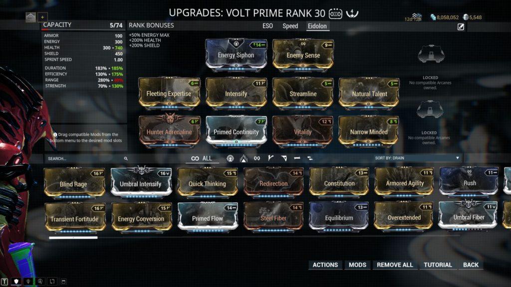 Volt Prime Eidolon Build