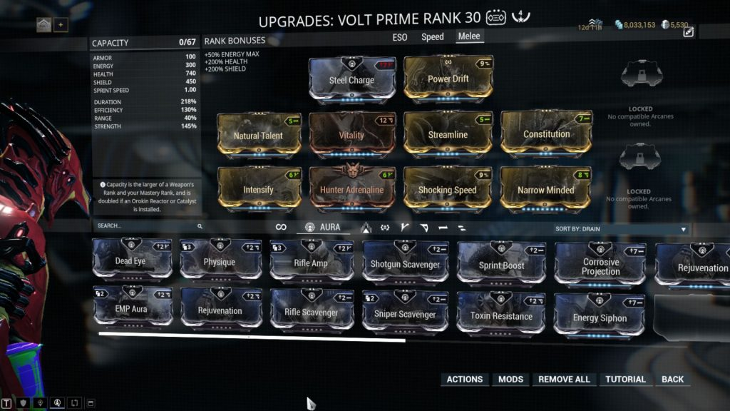 Volt Prime Melee Build