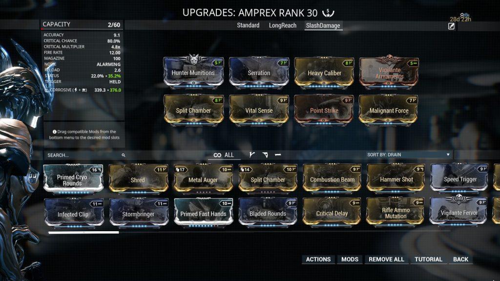 Amprex Slash Damage Build
