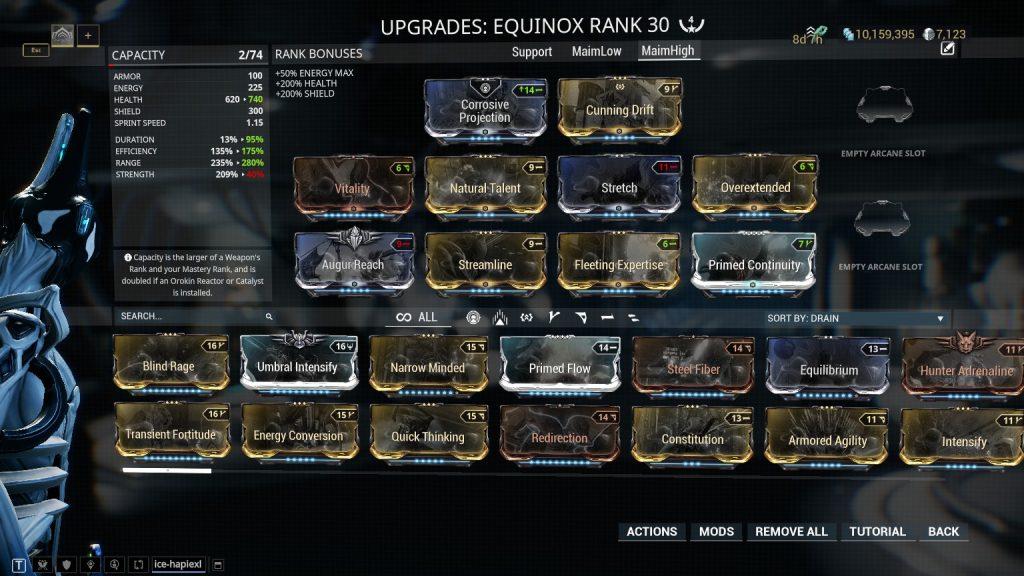 Equinox - Maim High Level Build