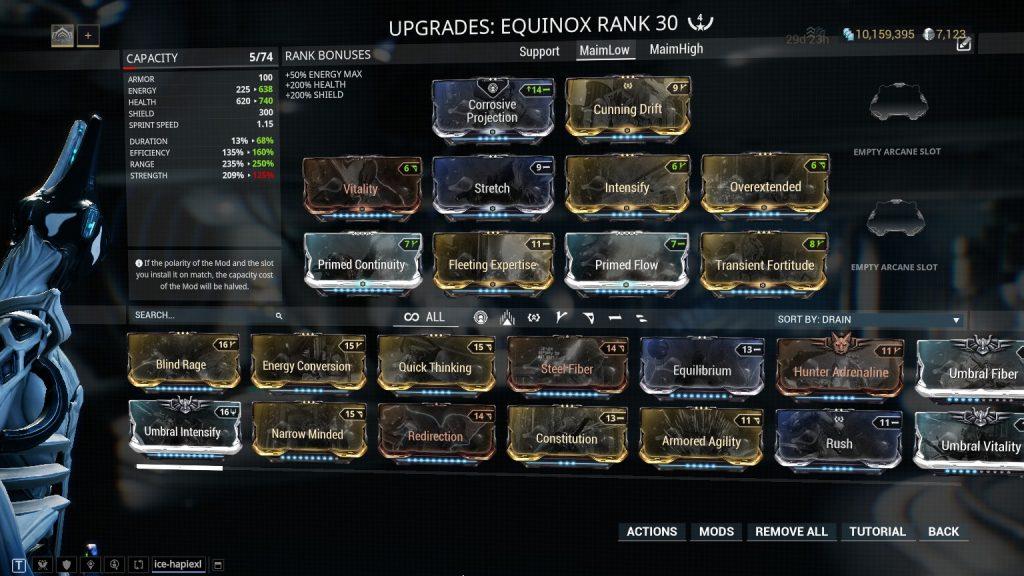 Equinox - Maim Low Level Build