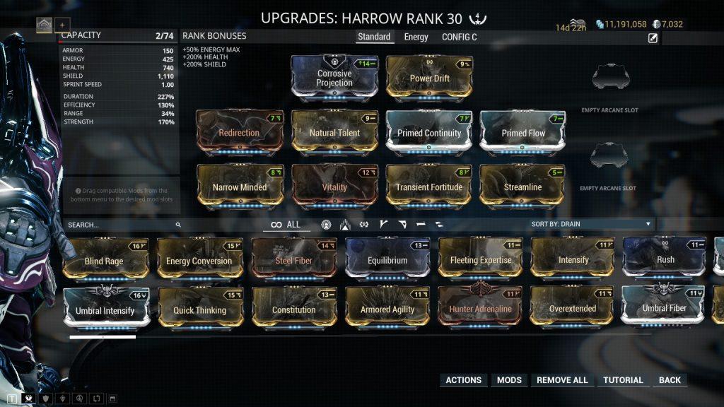 The Standard Harrow Build