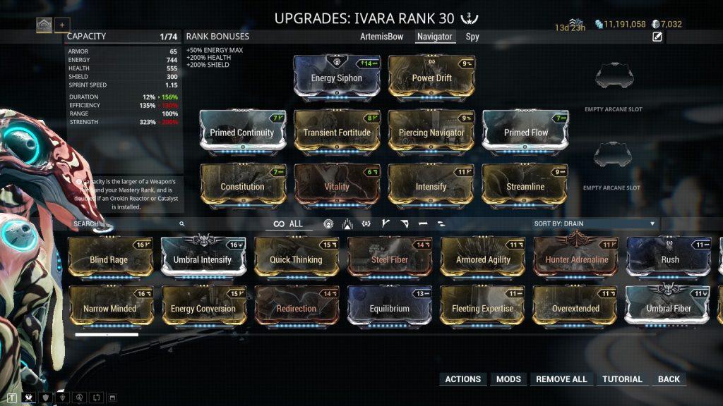 Ivara Navigator Build