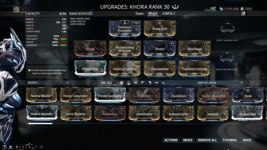 Khora - Whip Melee Build