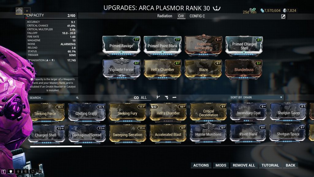 Warframe Arca Plasmor Build