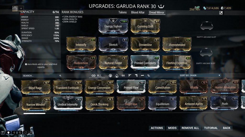 Garuda Dread Mirror Build