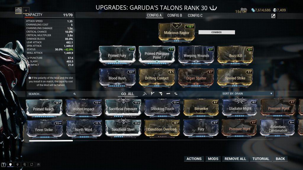 Garuda's Talons Build