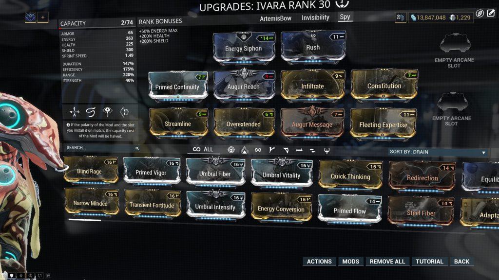 Ivara Prime Spy Build
