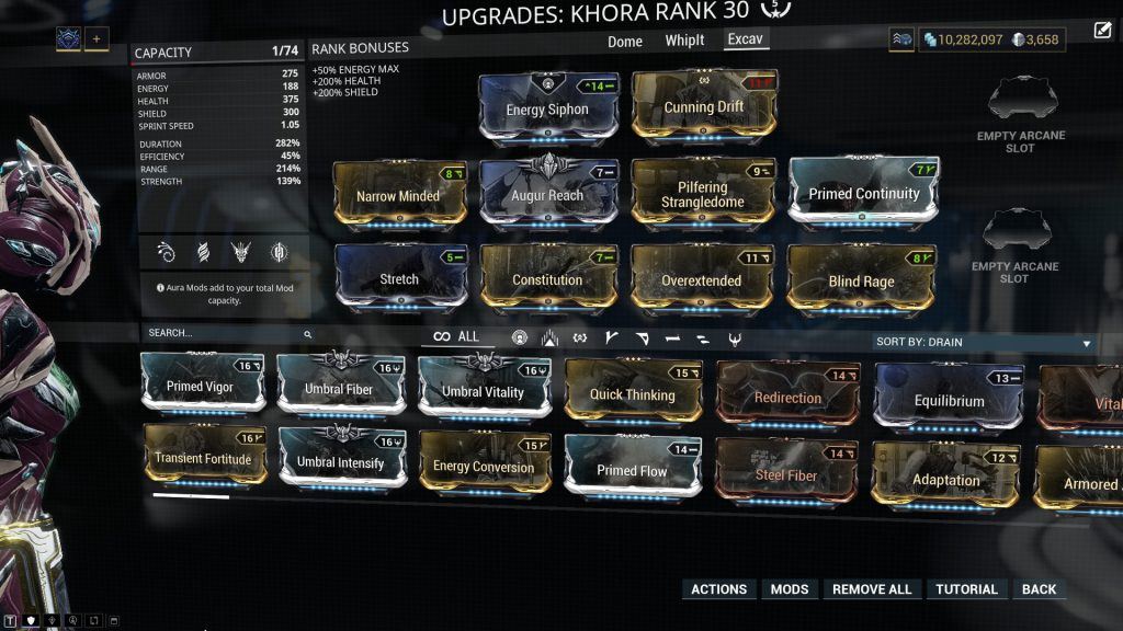 Khora - Pilfering Strangledome Build