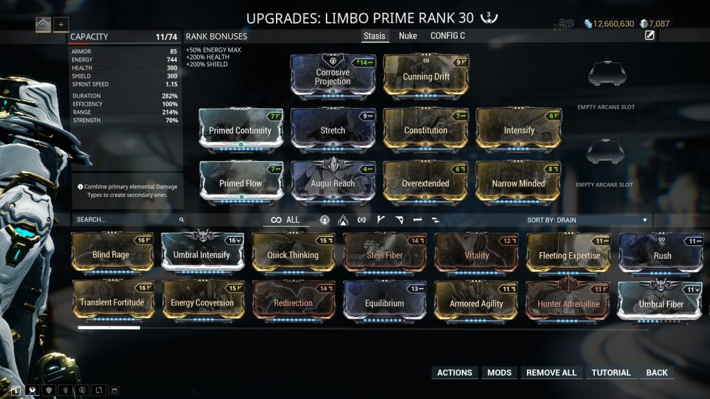 Limbo Prime Cataclysm Stasis Build