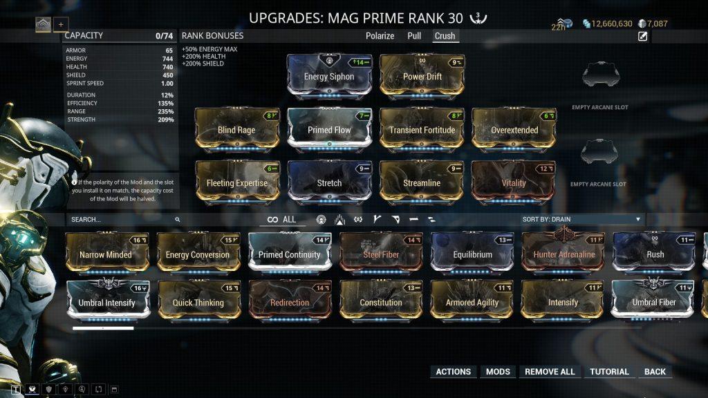 Mag Prime Crush Build