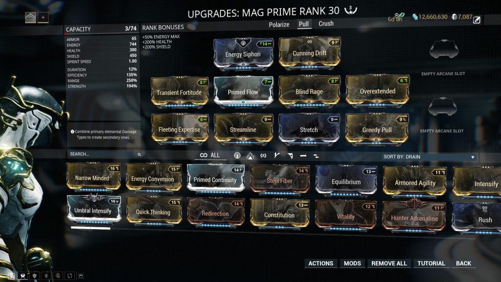Mag Prime Greedy Pull Build