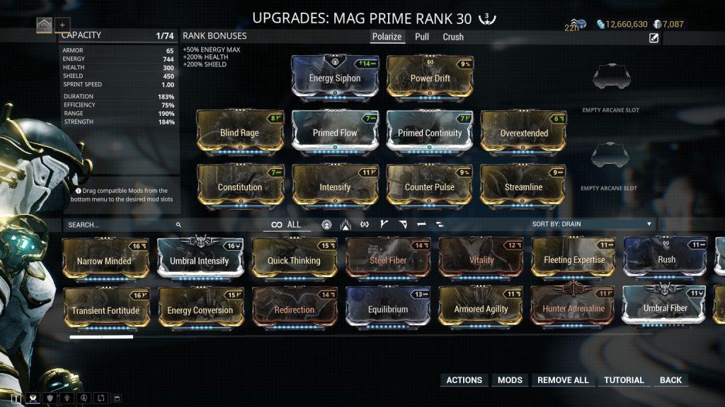Mag Prime Polarize Build