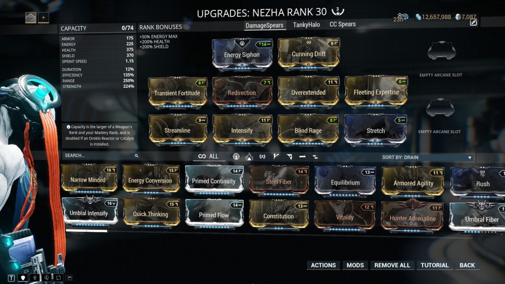 Damage Spears Nezha Prime Build