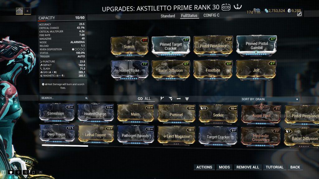 Akstiletto Prime Full Status Build