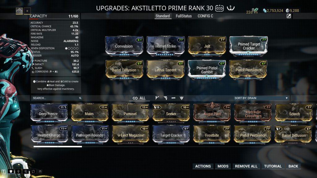 Akstiletto Prime Standard Build