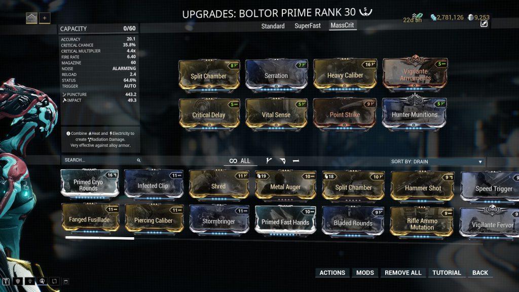 Boltor Prime Mass Crit Build