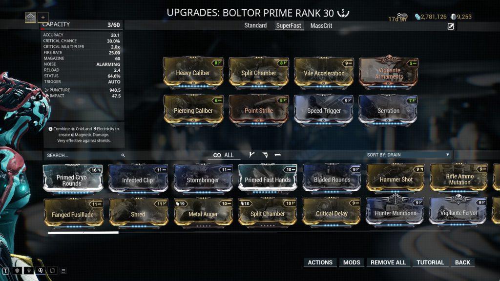 Super Fast Fire Rate Boltor Prime Build