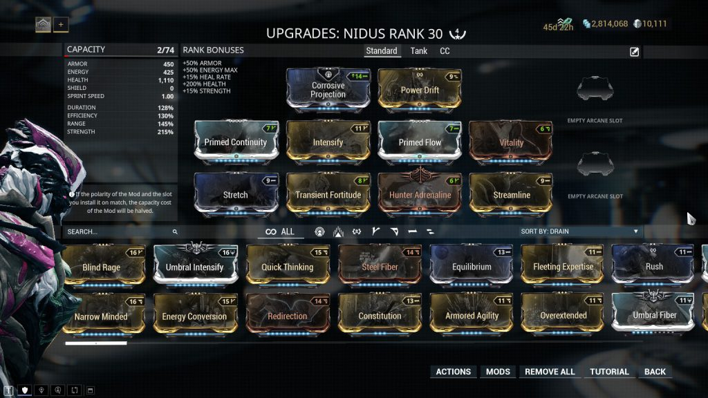 Nidus Standard Build