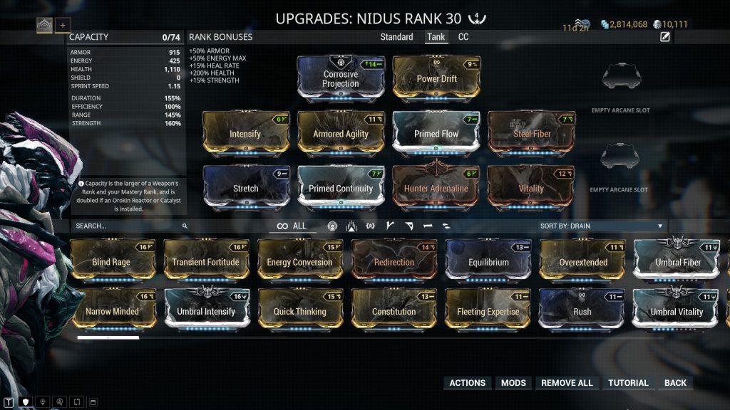 Nidus Tank Build