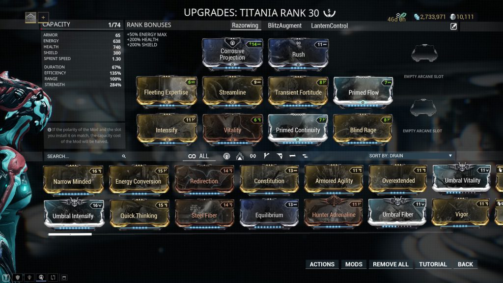 The Standard Titania Build