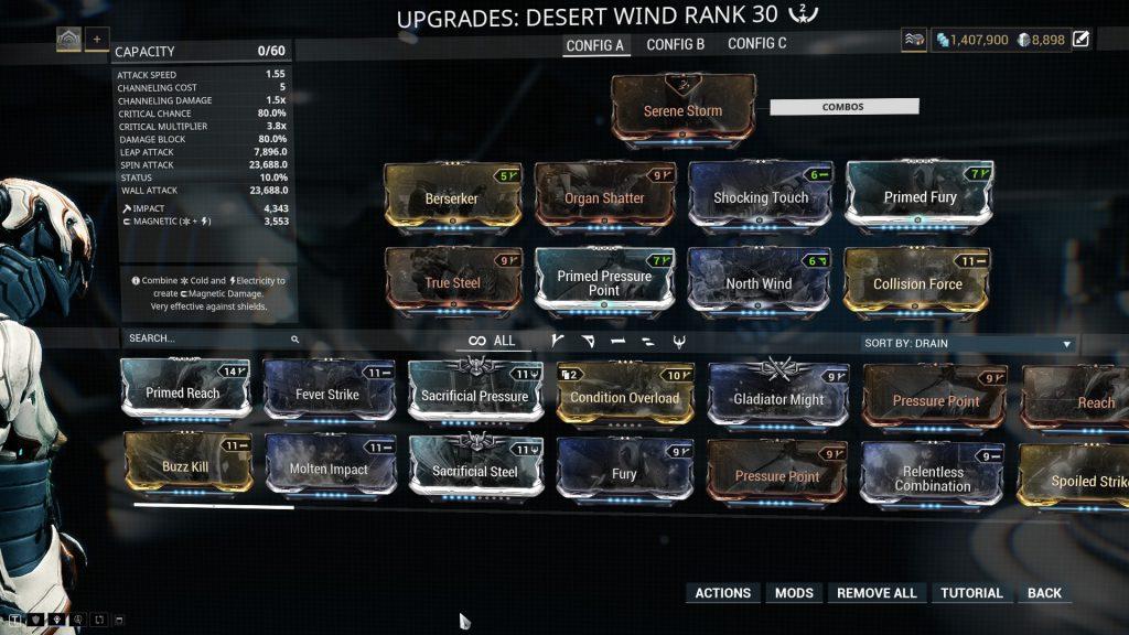 Baruuk Desert Wind Build