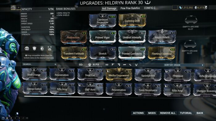 Image result for Warframe Hildryn Build Guide