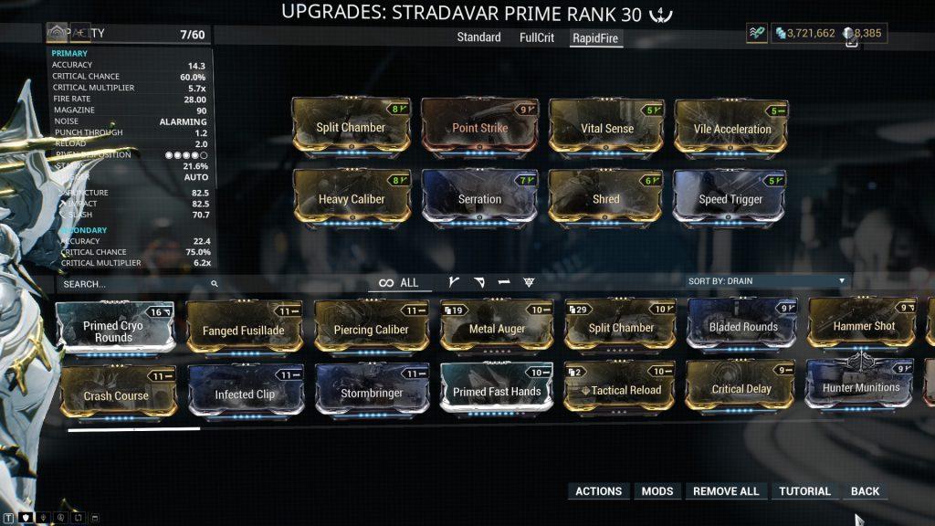 Stradavar Prime - Rapid Fire Build